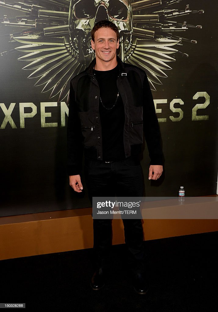 Olympic Swimmer Ryan Lochte arrives at Lionsgate Films' 'The Expendables 2' premiere on August 15, 2012 in Hollywood, California.