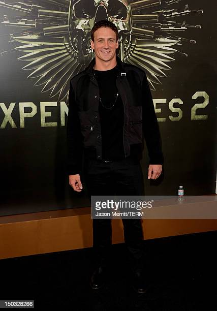 Olympic Swimmer Ryan Lochte arrives at Lionsgate Films' 'The Expendables 2' premiere on August 15 2012 in Hollywood California