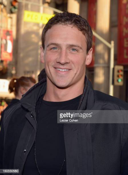 Olympic swimmer Ryan Lochte arrives at 'The Expendables 2' Los Angeles Premiere at Grauman's Chinese Theatre on August 15 2012 in Hollywood California