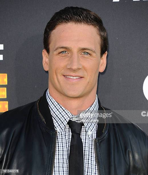 Olympic swimmer Ryan Lochte attends the Cartoon Network 3rd annual Hall Of Game Awards at Barker Hangar on February 9 2013 in Santa Monica California