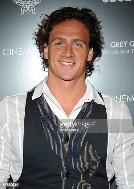 """Olympic swimmer Ryan Lochte attends the Cinema Society and MCM screening of """"Obsessed"""" at the School of Visual Arts on April 23, 2009 in New York..."""