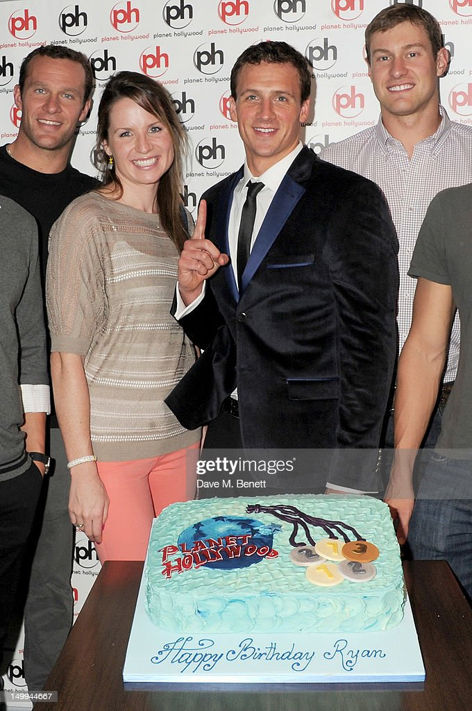 U.S. Olympic Swimmer Ryan Lochte Celebrates His 28th Birthday At Planet Hollywood London