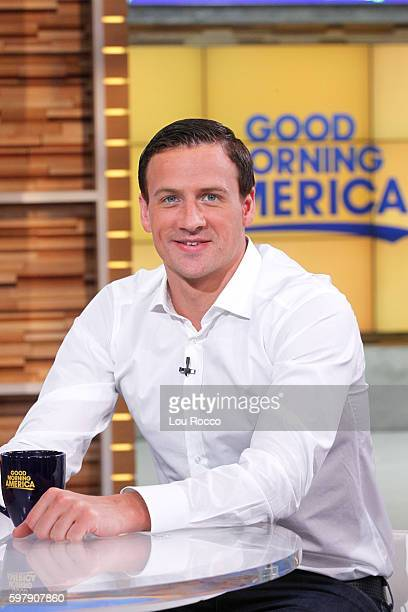 AMERICA Olympic swimmer Ryan Lochte is a guest on Good Morning America 8/30/16 airing on the Walt Disney Television via Getty Images Television...