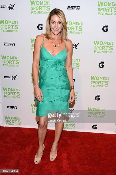 Olympic swimmer Summer Sanders attends the 33rd Annual Salute To Women In Sports Gala at Cipriani Wall Street on October 17 2012 in New York City
