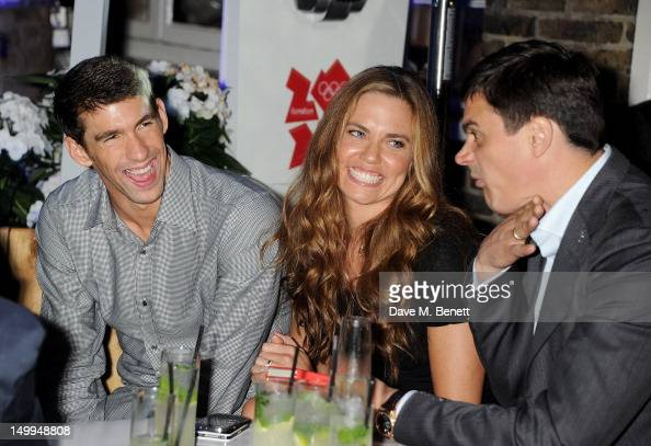 US Olympic swimmers Michael Phelps, Natalie Coughlin and ...