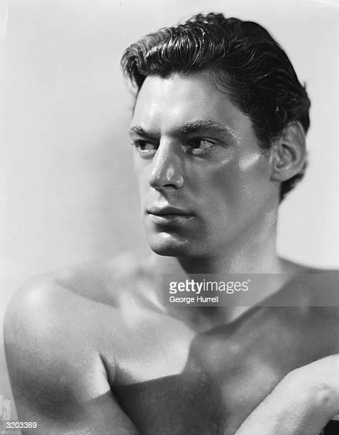 Olympic swimming champion and Hollywood actor Johnny Weissmuller best known for his numerous portrayals of Tarzan