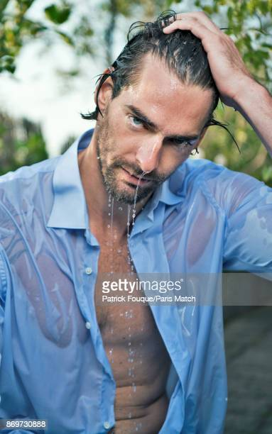Olympic swimming champion Camille Lacourt is photographed for Paris Match on October 16 2017 in Paris France