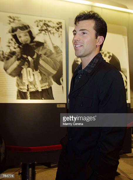 S Olympic team figure skater Michael Weiss arrives at the Special Olympics benefit premiere of movie i am sam January 22 2002 in Washington DC i am...