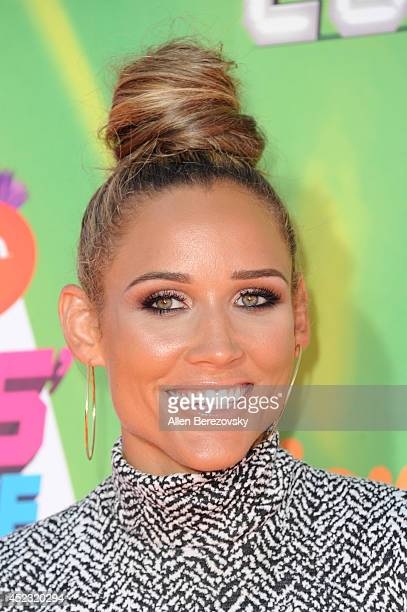 Olympic track star Lolo Jones attends Nickelodeon Kids' Choice Sports Awards 2014 at Pauley Pavilion on July 17, 2014 in Los Angeles, California.