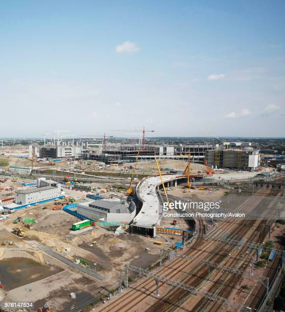 Olympic Village construction, Stratford, London, UK, August 2009, looking North-West.