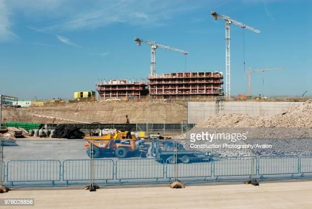 Olympic village under construction, Stratford, East London, UK.