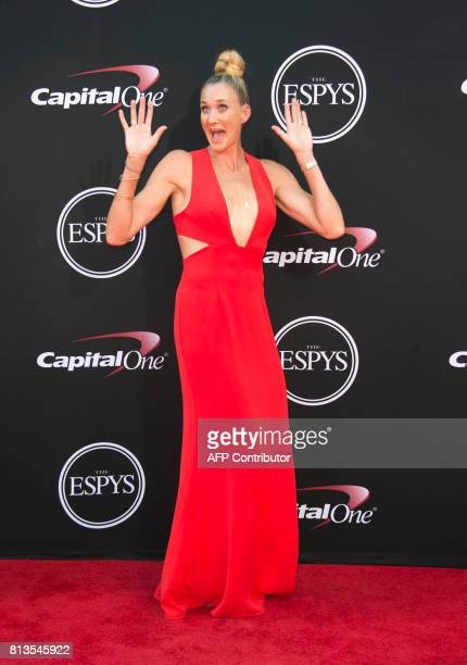 Olympic volleyball player Kerri Walsh attends the 25th ESPYS at the Microsoft Theater on July 12 2017 in Los Angeles California / AFP PHOTO / VALERIE...