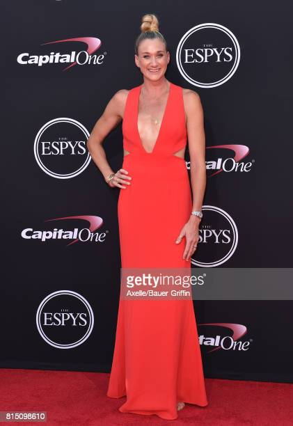 Olympic volleyball player Kerri Walsh Jennings arrives at the 2017 ESPYS at Microsoft Theater on July 12 2017 in Los Angeles California