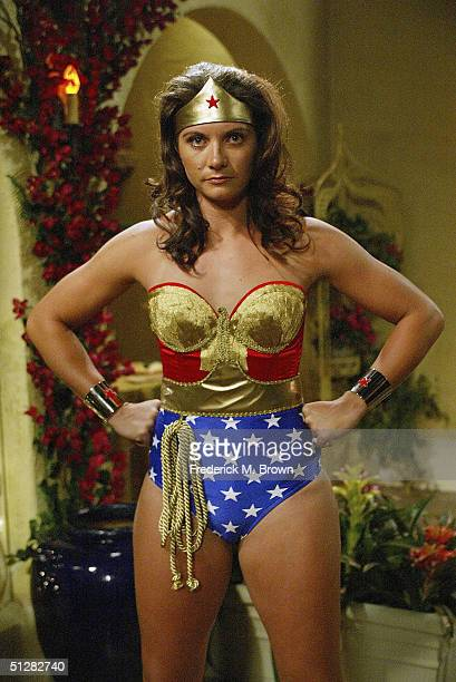 "Olympic Vollyball Gold Medal winner Misty May made her acting debut as Wonder Woman during tapeing of the ""Eve"" television show on September 9, 2004..."