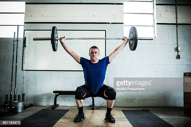 olympic weightlifting - weight training stock pictures, royalty-free photos & images