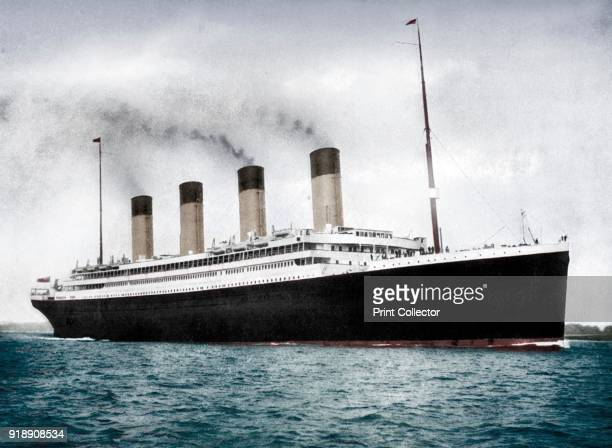 RMS 'Olympic' White Star Line ocean liner 19111912 Launched in 1910 'Olympic' was the first of her class of ocean liners built for the White Star...