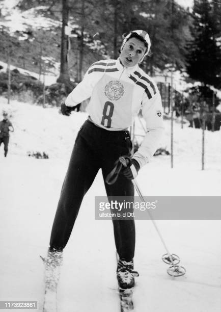 Olympic Winter Games in Cortina d'Ampezzo 1956 Madeleine Berthod