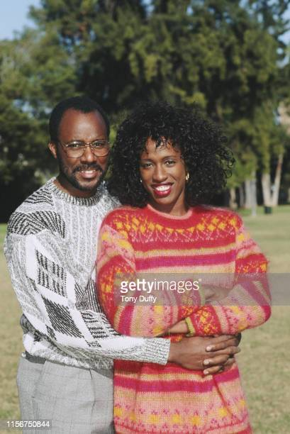Olympic, World Heptathlon and Long Jump Champion Jackie Joyner-Kersee and her husband and coach Bobby Kersee on 22nd November 1991 in Los Angeles,...