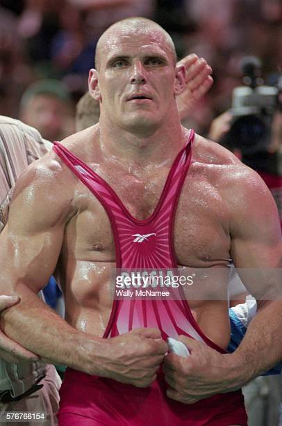 Olympic Wrestler Flexing