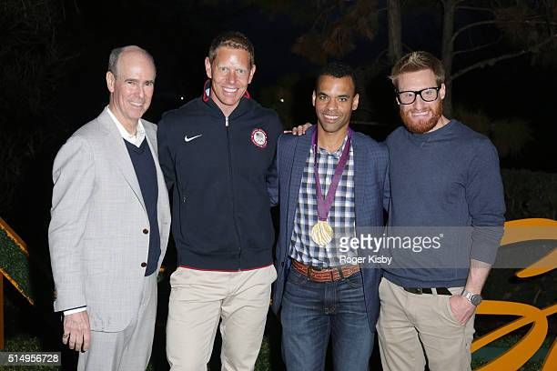 NBC Olympics CMO John Miller Olympic athlete Sky Christopherson NBC SportsÕ Rob Simmelkjaer and Paralympic gold medalist Brad Snyder attend the...