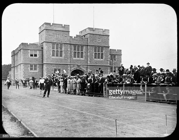 Olympics, Competition Official and Spectators, Vintage Photograph.
