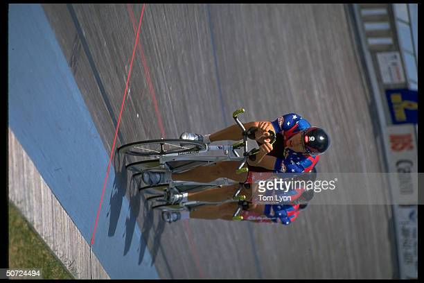 Cycling Track Trials Men's 4000M qualifying Team Pursuit Skittles in action