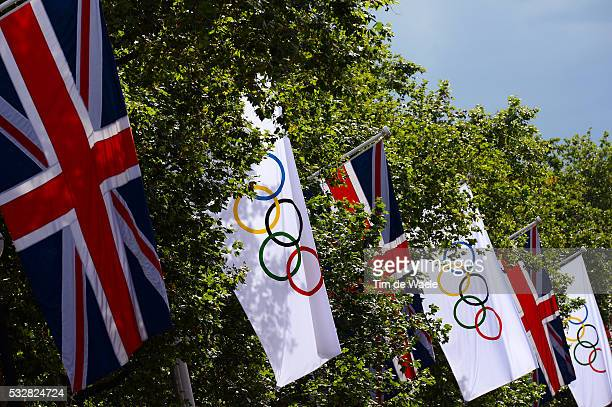 Women Road Race Illustration Illustratie / Flag Drapeau Vlag / Londen Londen / Route Femmes Weg Vrouwen / London Olympic Games Jeux Olympique Londres...
