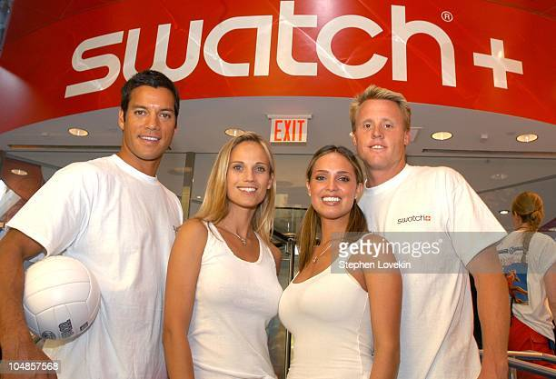 Olympics Gold Medalist Eric Fonoimoana Playboy Playmates Ulrika Ericcson and Lindsey Vuolo and Rookie of the year Dax Holdren