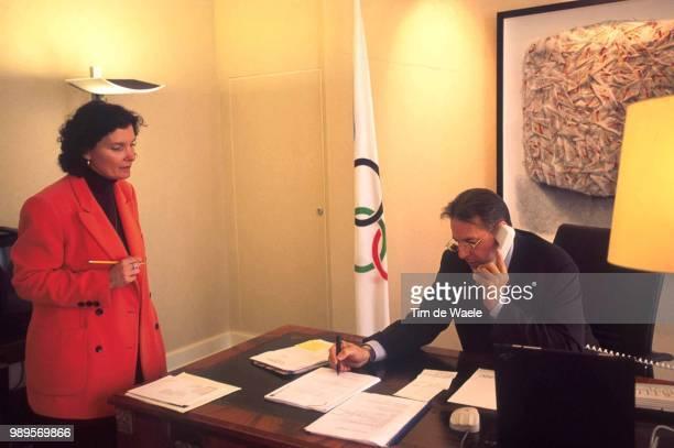 Jacques Rogge In Lausanne Jasmine Secretaire Secretaresse Assistante International Olympic Committee Comite International Olympique Internationaal...