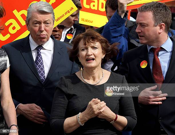 Olympics Minister Tessa Jowell and Home Secretary Alan Johnson meet locals in Brixton as Labour shift their focus to policies on crime on April 28...