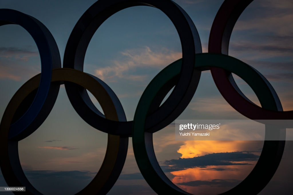 Final Preparations Are Made Ahead Of The Tokyo Olympics : News Photo