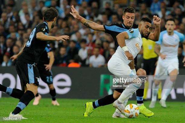Olympique de Marseille Boubacar Kamaracompete for the ball with Sergej Milinkovic Savic of SS Lazio during the UEFA Europa League Group H match...