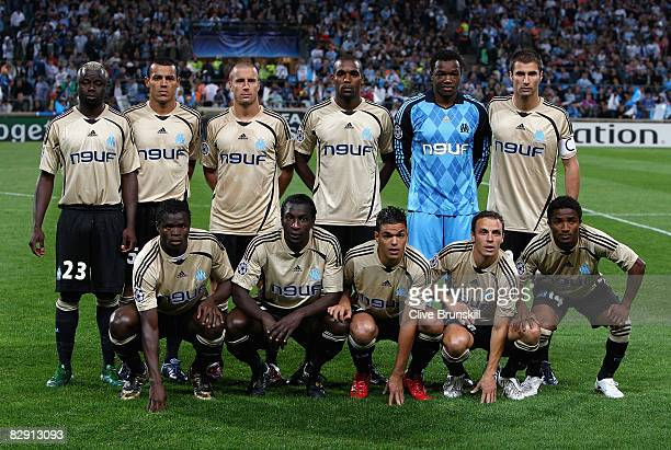 Olympique de Marseille prior to the UEFA Champions League Group D match between Olympique de Marseille and Liverpool at the Stade Velodrome on...