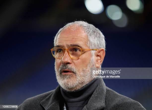 Olympique de Marseille Sport Director Andoni Zubizarreta looks on before the UEFA Europa League Group H match between SS Lazio and Olympique de...