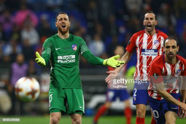 Olympique de Marseille v Atletico de Madrid Uefa Europa League Final Jan Oblak and Diego Godin of Atletico at Groupama Stadium in Lyon France on May...