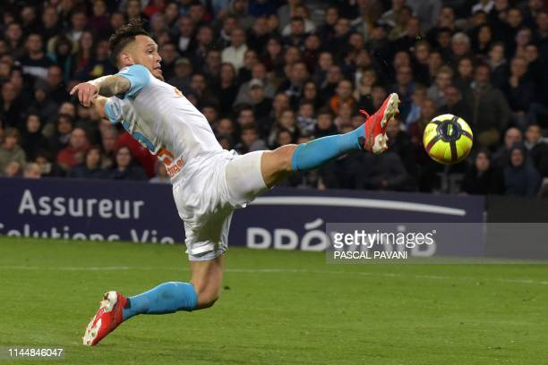 Olympique de Marseille's Argentinian forward Lucas Ocampos during the French L1 football match between Toulouse and Marseille on May 18 2019 at the...