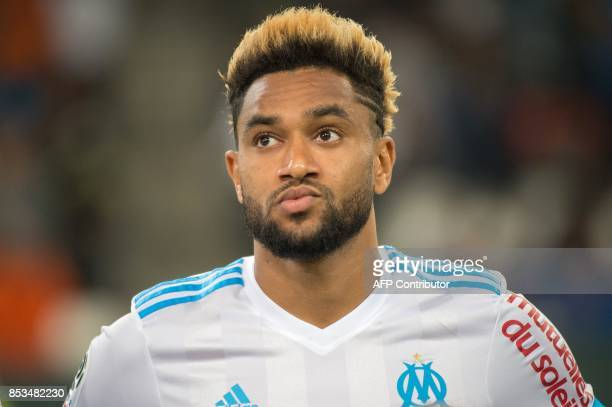 Olympique de Marseille's French defender Jordan Amavi looks on prior to the French L1 football match Olympique de Marseille vs Toulouse on September...