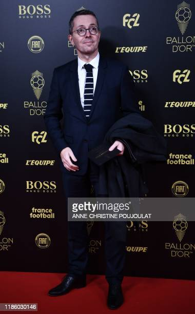 Olympique de Marseille's French president JacquesHenri Eyraud arrives to attend the Ballon d'Or France Football 2019 ceremony at the Chatelet Theatre...