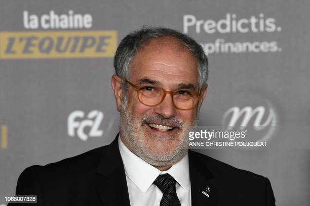 Olympique de Marseille's spanish sport manager Andoni Zubizarreta poses upon arrival at the 2018 Ballon d'Or award ceremony at the Grand Palais in...