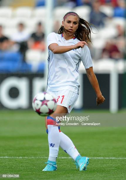 Olympique Lyonnais' Alex Morgan during the prematch warmup during the UEFA Women's Champions League Final match between Lyon Women and Paris...