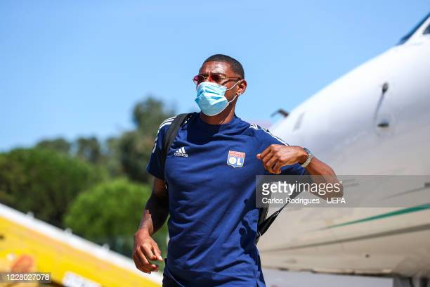 Olympique Lyonnais midfielder Jeff Reine Adelaide arrives in Lisbon with the Olympique Lyonnais team for the Champions League ate Humberto Delgado...