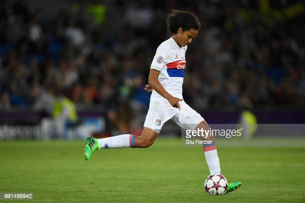 Olympique Lyonnais player Wendie Renard in action during the UEFA Women's Champions League Final between Lyon and Paris Saint Germain at Cardiff City...