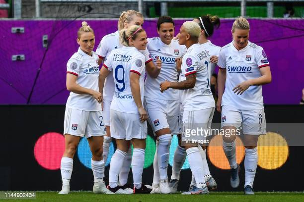 Olympique Lyonnais women celebrate the goal of Dzsenifer Marozsan of Olympique Lyonnais women during the UEFA Women's Champions League final match...