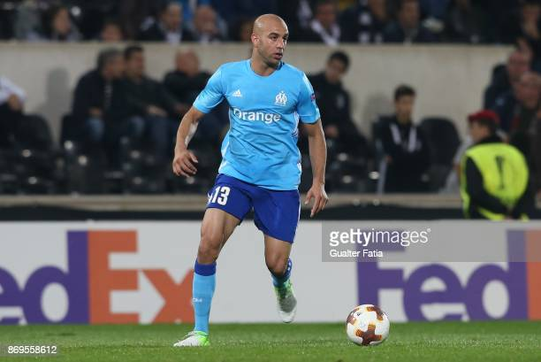 Olympique Marseille Aymen Abdennour from Tunisia in action during the UEFA Europa League match between Vitoria de Guimaraes and Olympique Marseille...
