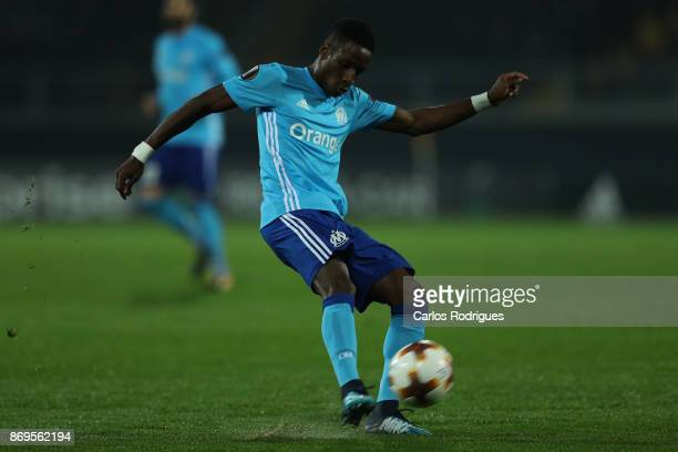 Olympique Marseille forward Bouna Sarr from Guinea during the match between Vitoria Guimaraes and Olympique Marseille match for UEFA Europa League at...