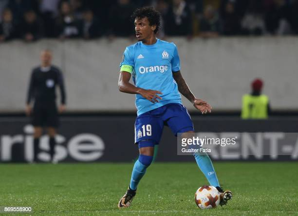 Olympique Marseille Luiz Gustavo from Brazil in action during the UEFA Europa League match between Vitoria de Guimaraes and Olympique Marseille at...