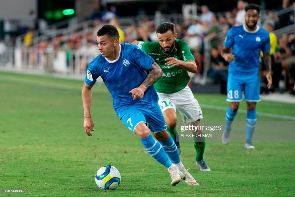 FBL-USA-LIGUE1-SAINT-ETIENNE-MARSEILLE : News Photo