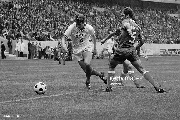 Olympique Marseille's famous Swedish player Roger Magnusson during the French soccer cup final against Bastia OM won 21