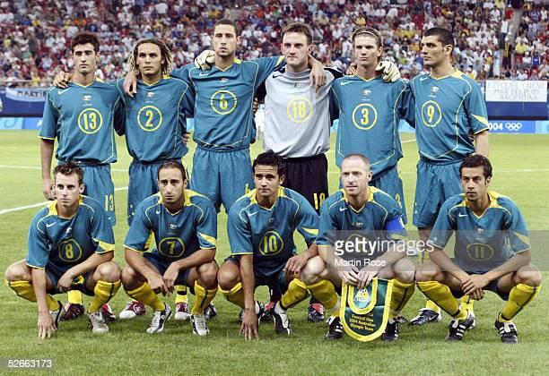 Olympische Spiele Athen 2004 Athen 170804 Gruppe C/Argentinien Australien 10 Team AUS hintere Reihe vl Carl VALERI Jade NORTH Adrian MADASCHI Eugene...