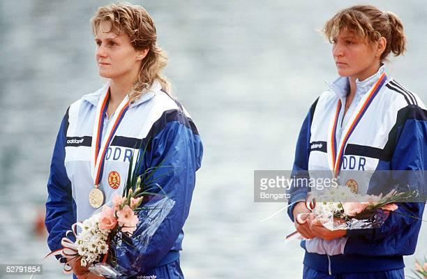 Olympische Spiele Seoul 1988; K2; Susanne WIBERG, Birgit SCHMIDT /DDR - Gold -